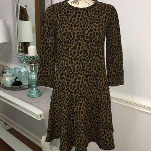 Ann Taylor LOFT NWT leopard print dress small